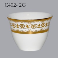 2016 China best sale 100% good quality ceramics golden coffee cup set