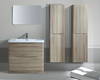 Woodgrain pvc foil wrapped UK bathroom vanity
