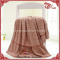 Baoman 100% cotton solid terry beach bath towel with border