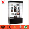 Gift Store Lighted Glass Display Case with Painted Black MDF Base