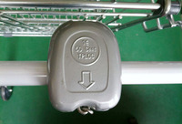 2016 supermarket shopping trolley cart lock/ New design coin lock for shop cart