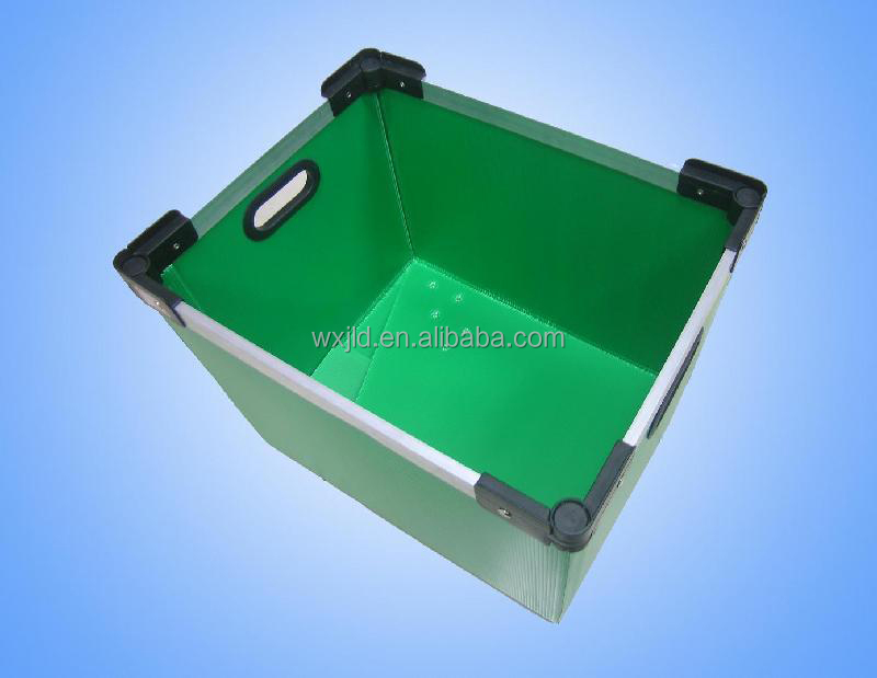 plastic circle pp corrugated box design with ISO SGS certificate
