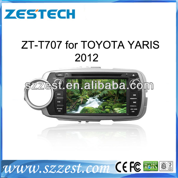 ZESTECH Latest Model 2 din hd touchscreen car dvd for toyota Yaris 2012 with GPS 3G Wifi Phonebook ,POP support