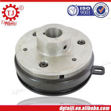 electromagnetic brake clutch with bearing and guideway