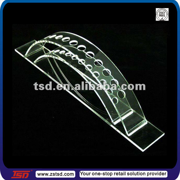 TSD-A500 Factory supply high quality clear acrylic pen holder/crystal pen holder/plexiglass pen holder
