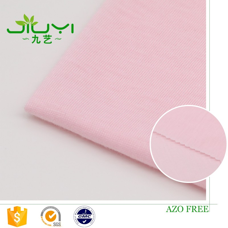 high quality wholesale pink100% spun <strong>polyester</strong> single types of jersey fabric