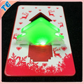 Various styles led christmas tree shaped card light