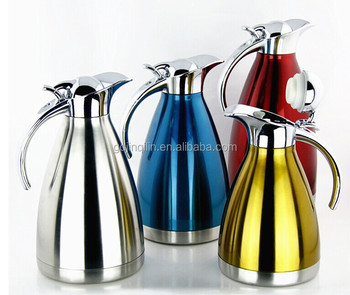 high quality colorful appearance double wall stainless steel tea kettle for sale