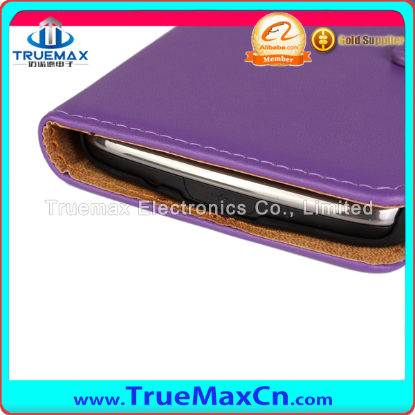 2015 New Arrival Wallet Flip Leather Cover Case For Samsung S4 Active Real Leather Case