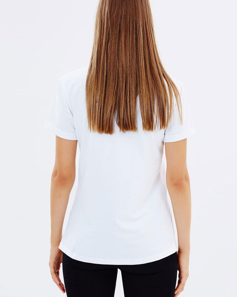 Oem manufacturer women white color plain t-shirts tshirts