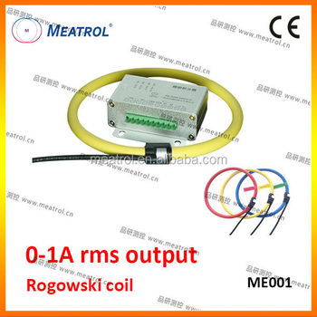 0-1A rms output flexible rogowski coil ME001 air-cored current sensor(with integrator)