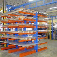High quality and high efficiency warehouse storage showcase galvanized cantilever pipe storage rack