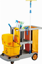 Multifunctional Hotel Hospital Housekeeping Cleaning Trolley Cart Price