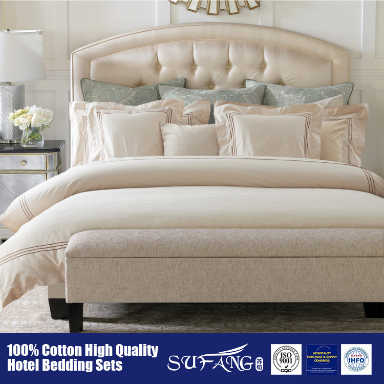 100%Cotton 40S satin High Quality Bedding Set,emboridery every edge Quilt, Wholesal Luxury Bedding Sets hotel