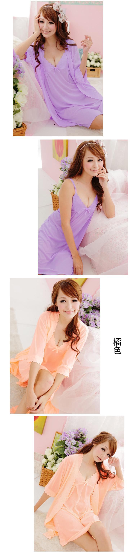Fashion Women 2pcs Nightdress Sets Sexy Lingerie Nightgowns Sexy V-Neck Sling Sleepshirts Chemise Ladies Sleeping dress Set