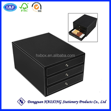 foldable cardboard storage drawers/plastic a4 storage drawer/tabletop storage drawer