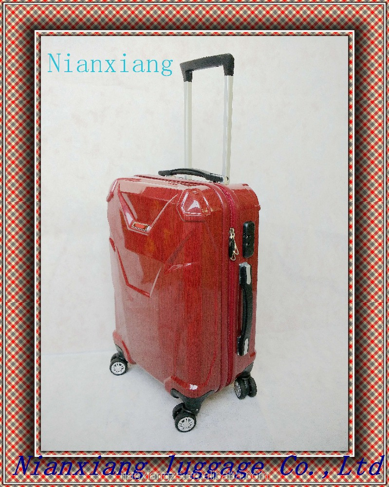 Double zipper abs trolley travel luggage from factory 2016