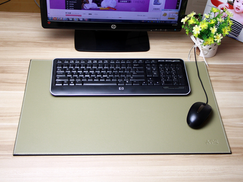 Keyboard Pad Mouse Pads Placemat PU Leather Made With Low Price Promotion