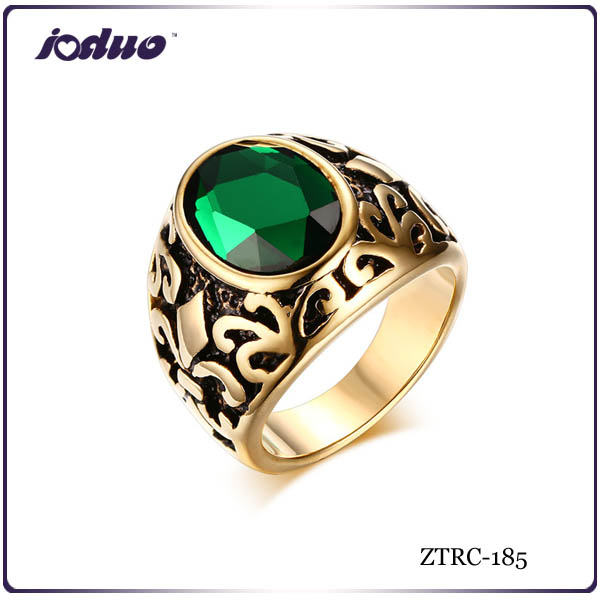 Europe and America style retro orris design men stainless steel rings
