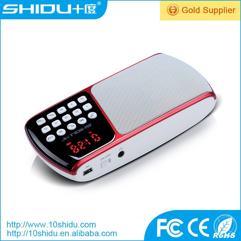 Waistband FM radio with replaceable lithium ion battery support power cuts memory function for elders