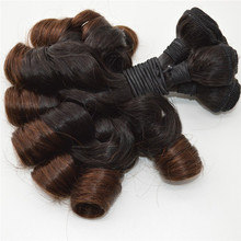 "High Quality Indian Hair Bundles Double Drawn Weft 8-30"" Ombre Color 100% Human Funmi Hair"