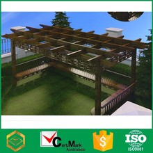 China New Design Wood Grain Aluminum Wire Pergola