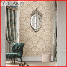 Damask Design Deep Embossed PVC Sound-Absorbing Wallpaper