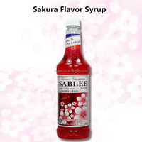 SABLEE French Sakura Flavor Syrup S219 Hot Sale Product China Suppliers 900ml