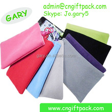 Good Quality Velvet Cell Phone Wallet Protection Bags with Button