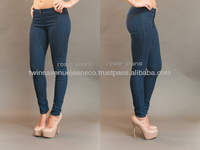 New Arrival Low Rise Skinny Stretchy Curvy Fit Fashion Ladies Rosie Jeans Dark Blue