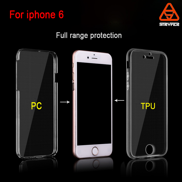 New Hybrid Premium Bumper Clear TPU front screen protect / PC Frame Slim Dual Layer Premium Case for iPhone 6/ 6s