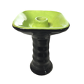 Bar accessory green porcelain square hookah bowl