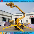 16m CE, ISO9001 and SGS Towable Lift articulating boom lift