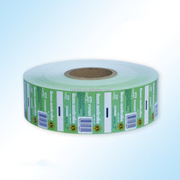 printed and laminated plastic packaging film