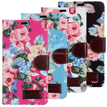 Flower Design Wallet Leather Case For Sony Xperia Z2