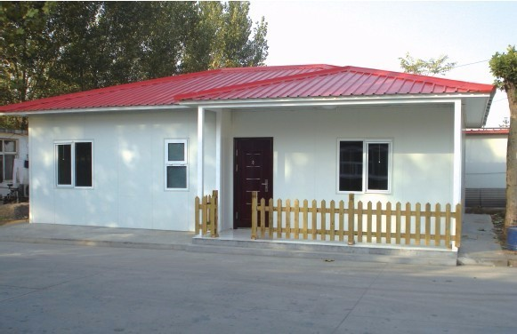 Prefabricated House, Low Cost Sandwich Panel Prefab Home