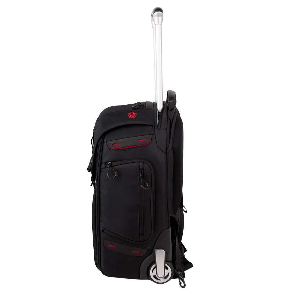 Black High Quality Rolling Camera Backpack