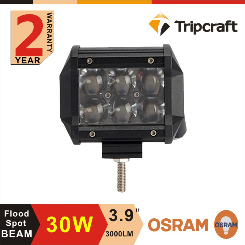 Dual row led offroad light bar,3.9 inch 30w 4x4 battery powered led light bar driving lights