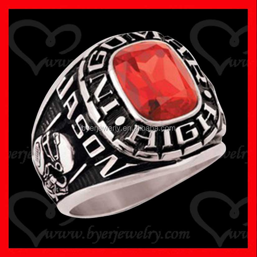 colorful keystone custom class rings university ring for memory