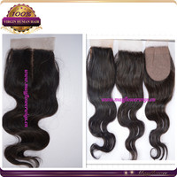 "14"" 3.5*4 wholesale body wave silk closure for African American cheap price natural color hidden knots stock"