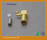 SMB plug (female)Right Angle high frequency connector of brass