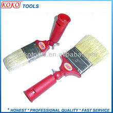 Adjustable plastic handle bristle angle paint brush