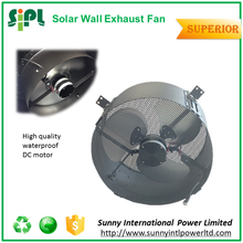 High efficiency 20W solar power dc motor driven axial flow wall mounted industry ventilation fan