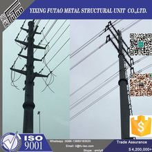 Quality galvanized electrical transmission line steel utility poles
