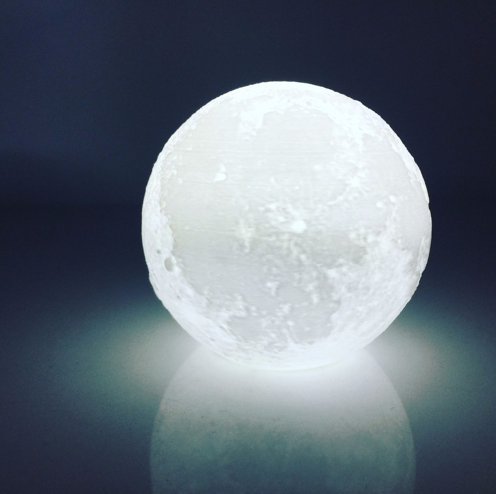 Moon Light Led Charger Creative Remote Control Dimming Bedroom Bedside Light 3D Print Lunar Lamp
