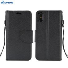 Wholesale Flip Leather Shell Custom Cell Phone Accessories Mobile Case Mobile Back Cover For Iphone X Case