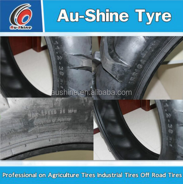 Aushine tire factory bias rubber Irrigation tire Rice and cane tire 11.2-24