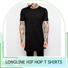 fashion 2015 man clothes longline hip hop t shirt