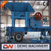 Cobble limestone mobile jaw crusher price