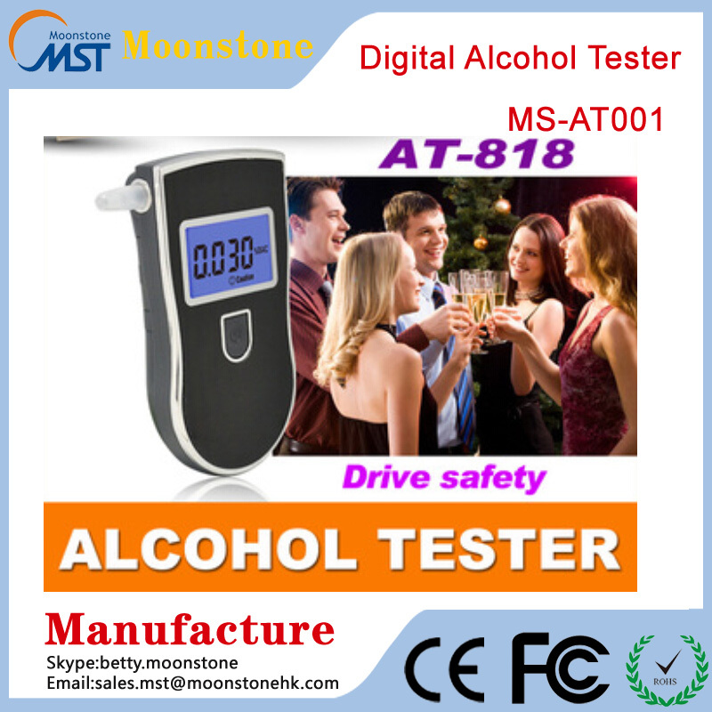 NEW Hot selling Professional Police Digital breathalyzer alcohol tester at818 portable breathalyzer